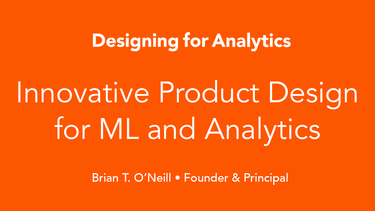 Despite Dearth Of Data Firms Sell Brain >> Designing For Analytics Ui Ux Product Designer Strategy