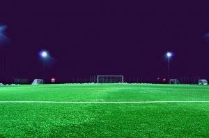 Empty soccer pitch