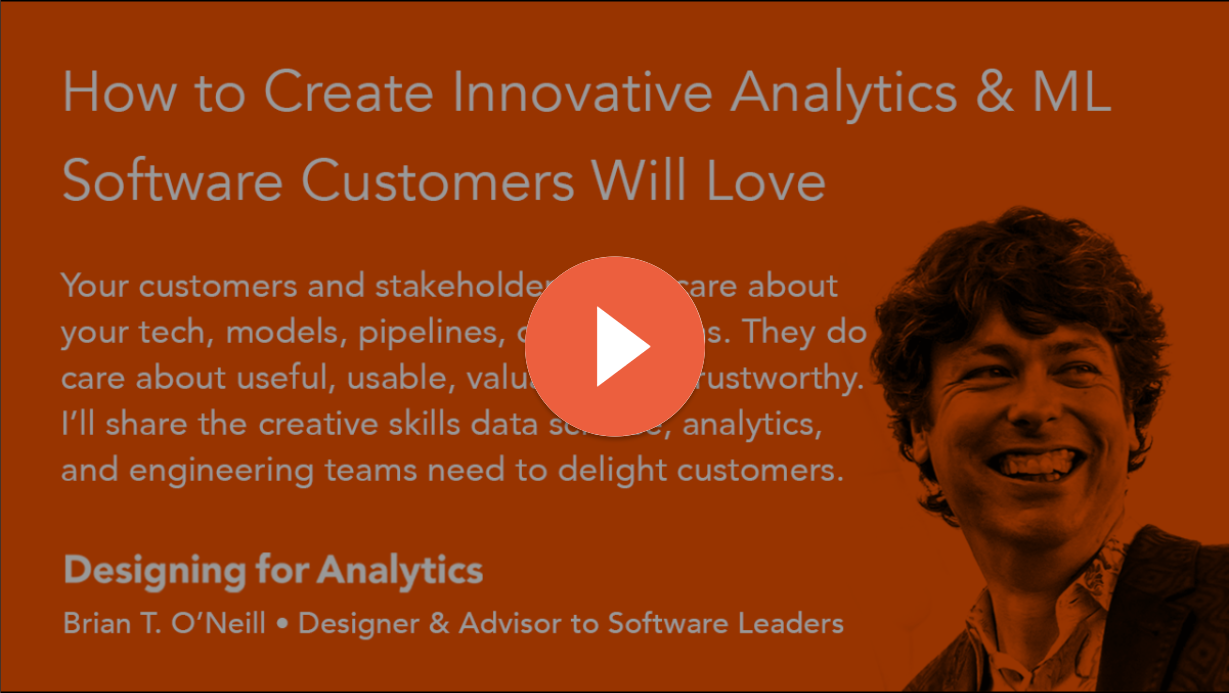 How to Create Innovative Analytics and ML Software Customers Will Love (Crowdcast Webinar 10-09-20)