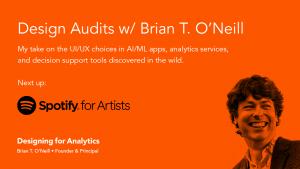 Design Audit: Spotify for Artists