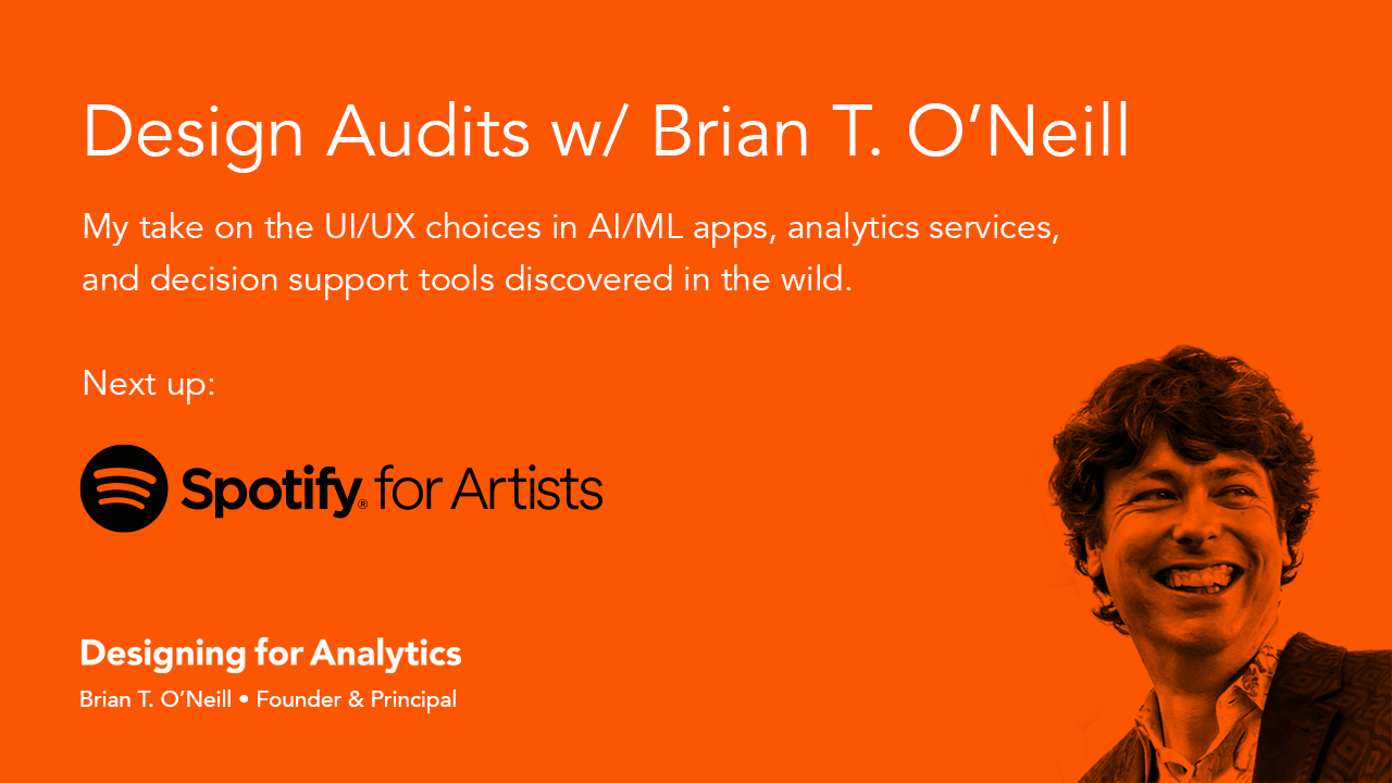 Design Audit: Spotify for Artists